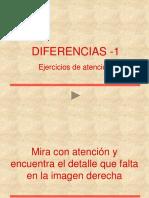 diferencias, ejercicio de atencion