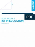 Icdl Ict in Education Syllabus 1.0