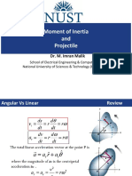 Practice Problems Projectile and Moment of Inertia