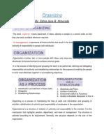 Handouts Organizing