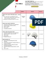 Lista de Precios Epp j.j.p Securitas 2018