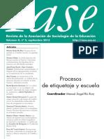 Revista de la Asociación de Sociología de la Educación, vol. 8, nº 3