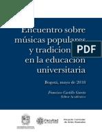 Libro Encuentro de Musica Populares
