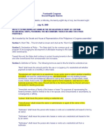 RA 9653 - Rent Control Law