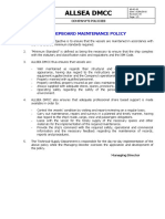 Shipboard Maintenance Policy