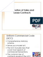 Sales and Lease Contracts