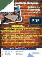 Clase Evaluación de Evaluación de intervenciones en salud Lita Ortiz 2018