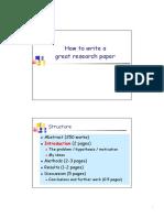 Writing Great Reseacrh Paper
