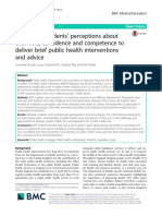 Healthcare Students' Perceptions About Their Role, Confidence and Competence to Deliver Brief Public Health Interventions and Advice