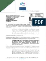 Respuesta de Secretaría de Gobierno a diputada