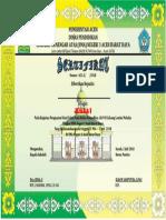 sertifikat pesantren kilat