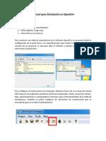 Manual Para Simulación en OpenCim