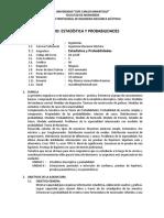 9silabus - Estadística y Probabilidades- 2015-II