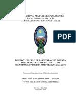INSTALACION INTERNAS DE GAS NATURAL