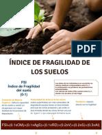 II Clase. Calculo de Indice Fragilidad de Suelos