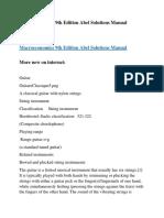 Macroeconomics 9th Edition Abel Solutions Manual