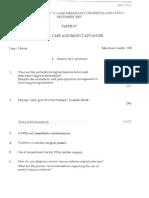 Critical Care and Recent Advances