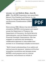 MITRE Appoints Beth Meinert VP and Director of Center for Enterprise Modernization – Financial and Economic Transformation FFRDC | The MITRE Corporation