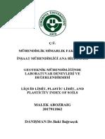 Atterberg Limits Lab Report