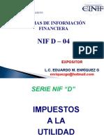 impuestos a la utilidad NIF D-4