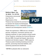 The U.S. Department of the Treasury Renews MITRE Contract to Operate FFRDC | The MITRE Corporation
