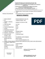 SINTPEK _ Biodata Peserta