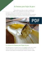 La Cáscara de Banana Para Bajar de Peso