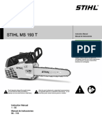 STIHL MS 193 T Owners Instruction Manual
