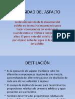 Densidad Del Asfalto