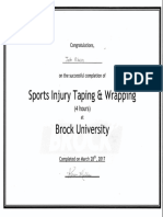 sports injury taping and wrapping certificate