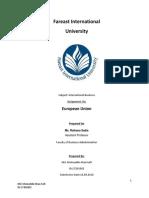 Assignment on International Business