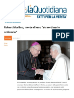 Robert Morlino, Morte Di Uno Straordinario Ordinario