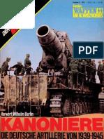 Das III Reich Son Der Heft 10 - Die Deutsche Artillerie Von 1939-1945+