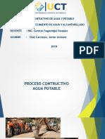 Proceso Conctructivo de Agua Potable Urbano