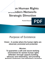 Women Human Rights Defenders Network- Strategic Direction
