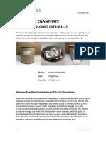 Masteron Enanthate (Drostanolone) (472!61!1)