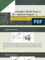 10 Aplikasi Integral 1