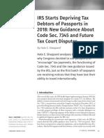 IRS Starts Depriving Tax Debtors of Passports in 2018