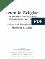 Truth in Religion by Mortimer Adler