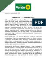 Comunicado Alianza Verde