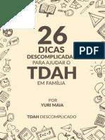 26 Dicas Para Ajudar o TDAH Em Família