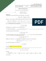 Corrección Segundo parcial de Cálculo III, 26 de noviembre de 2018