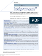 Risk of Ectopic Pregnancy Lowest With Transfer