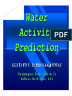 Water Activity Prediction