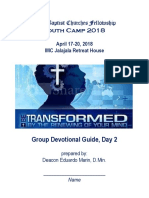 Youth Camp Devotion (Day 2) for Campers