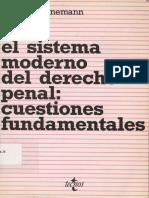 Bernd Schünemann - El sistema moderno del Derecho penal.pdf