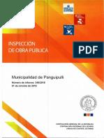 Informe Final 348-18 Municipalidad de Panguipulli, Inspección a La Obra Mejoramiento Avenida Gabriela Mistral, 2da Etapa, Panguipulli, Octubre-2018