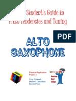 Intonation Workbook for Alto Saxophone