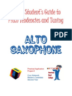 Intonation Workbook for Alto Saxophone