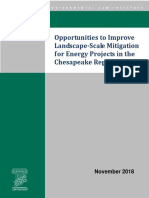 Opportunities to Improve Landscape-Scale Mitigation for Energy Projects in the Chesapeake Region
